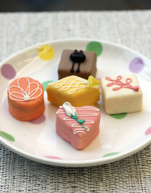 Petits fours that taste as good as they look.