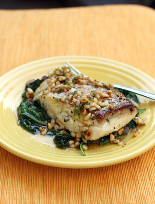 A halibut dish guaranteed to make an impression.