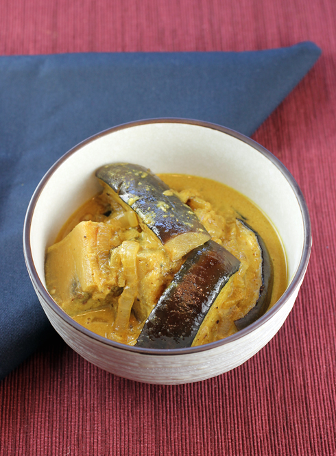 Eggplant curry from a very special cookbook.