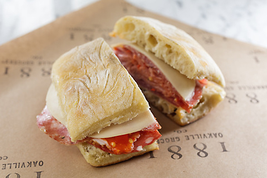 The muffaletta. (Photo courtesy of Oakville Grocery.)
