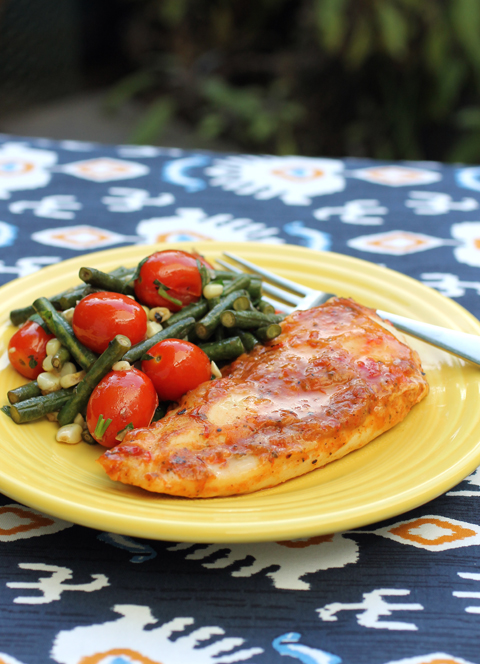 Foster Farms new Roasted Red Pepper Chicken Oven Ready Entree. Just add your own sides.