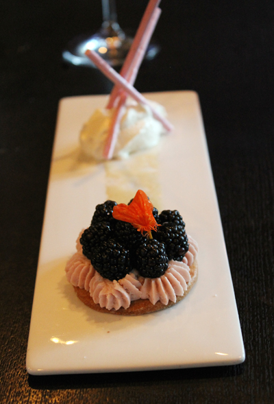 Blackberry tart.