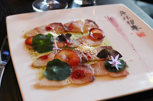 A beauitful crudo dish.