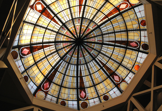The domed ceiling.