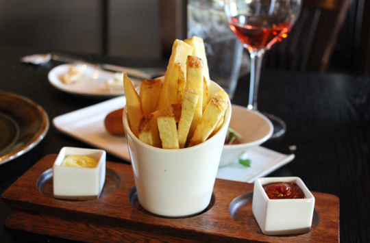 Triple-cooked fries.