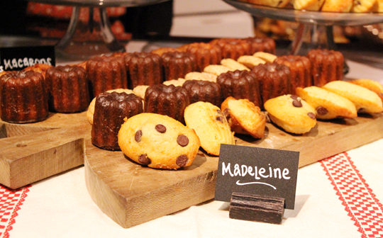 Caneles and chocolate-chip madeleines from La Boulange.