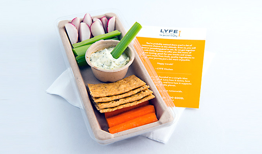 How's this for a surprisingly fresh-looking inflight meal? (Photo courtesy of LYFE Kitchen.)