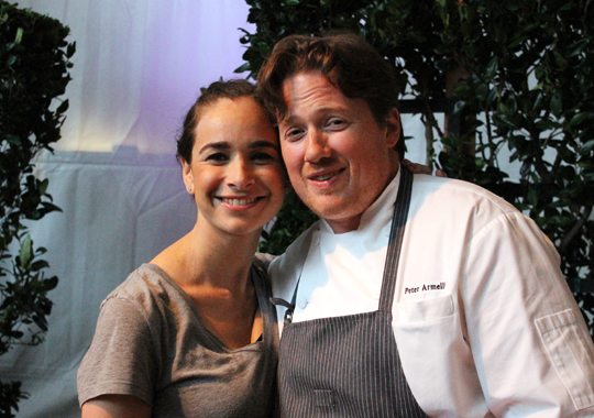 Newlyweds Samantha Stock, former sous chef at Quattro in the Four Seasons in East Palo Alto, and Peter Armellino, chef of the Plumed Horse in Saratoga.