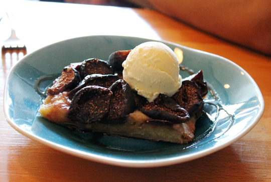 A fig tart that would be pretty satisfying for breakfast, too.