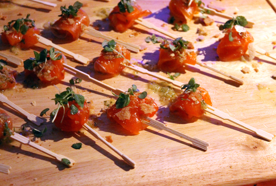 Ichi Sushi's house-cured local king salmon.