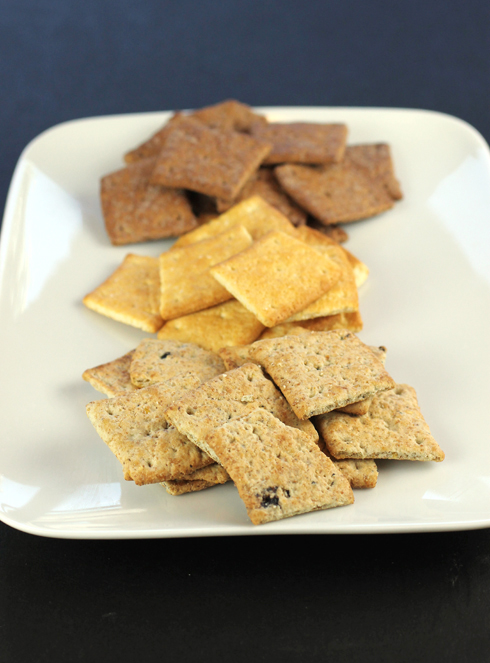 New Milton's crackers (front to back): Blueberry Multi-Grain, Honey & Corn, and Chocolate Multi-Grain.