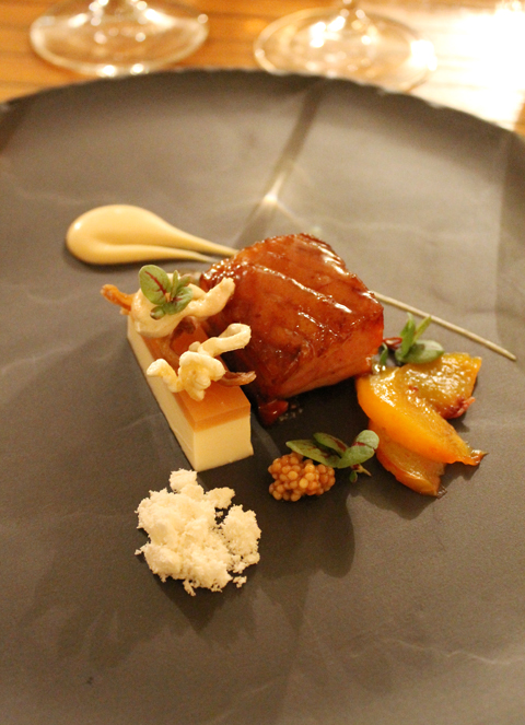 Pork belly, as prepared by the staff of Sacramento's Enotria restaurant.