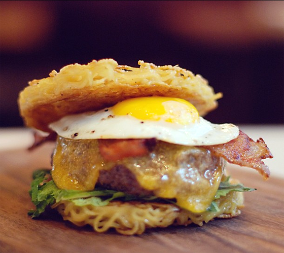 Ramen Burger. (Photo courtesy of the San Francisco Grand Hyatt)