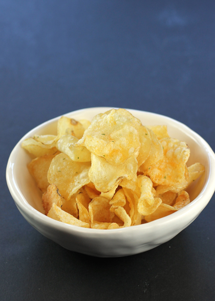Mature Cheddar & Chives chips.