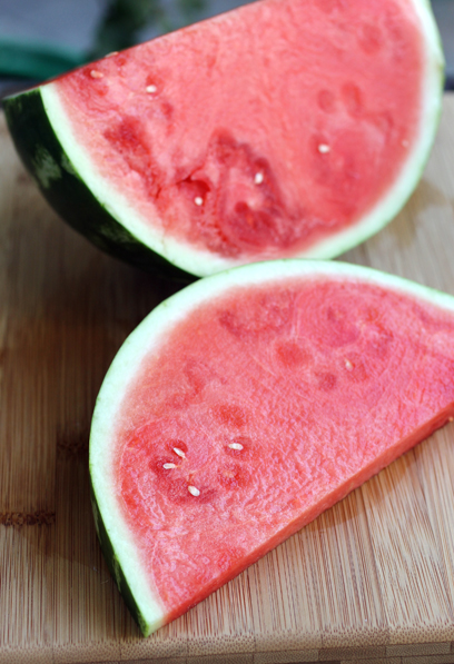 Summer watermelon used in a unique way.