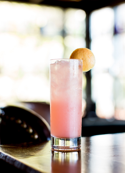 The Pink Ribbon Rickey. (Photo courtesy of Epic Roasthouse)