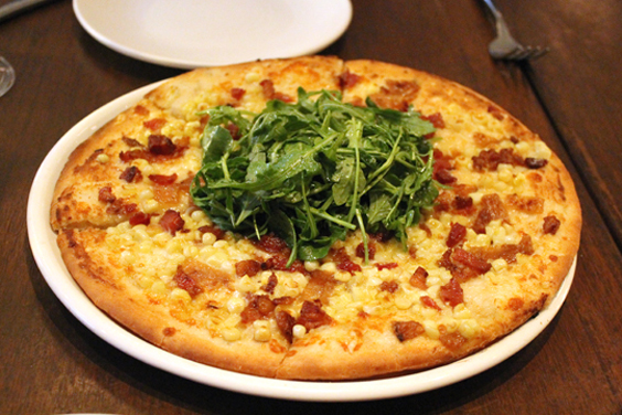 A gluten-free pizza at Pizza Antica at Santana Row.