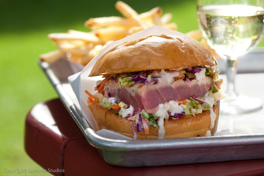 The amazing ahi burger. (Photo courtesy of Gott's)