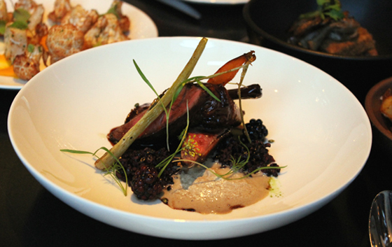The squab is not to be missed at 1601 Bar & Kitchen.