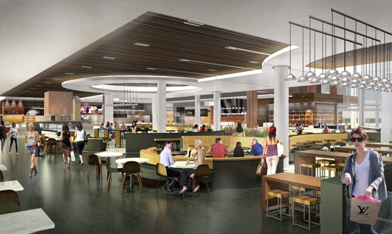 Artist's rendering of the new Dining Terrace at Valley Fair Shopping Center. (Photo courtesy of Westfiled)