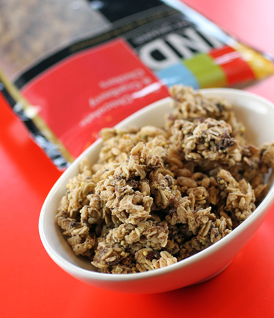Big clusters of granola you can eat with your fingers.