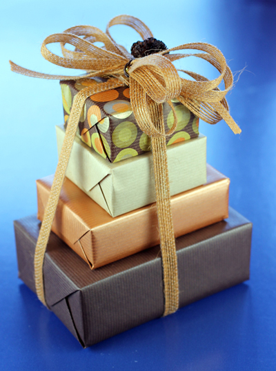 A four-tiered gift of sweet treats from Gift A Feast.