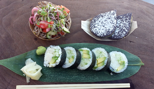 One of Roka Akor's Brown Bag Lunch offerings. (Photo courtesy of the restaurant)
