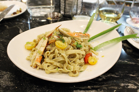 House-made strands of fettuccine tossed with fresh Dungeness.