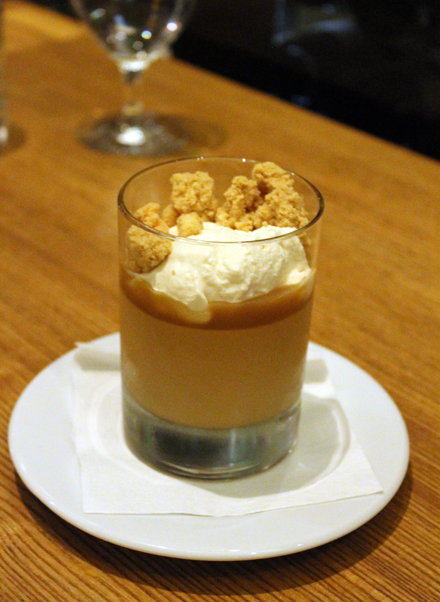 Butterscotch pudding.