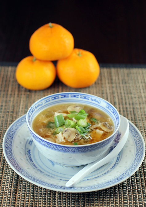 Warm up with a different version of hot and sour soup.
