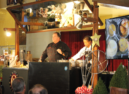 Chef Kent Rathbun on the demo stage at the Ahwahnee.