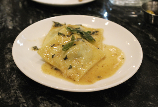 A sample of the exquisite ravioli -- also made in-house.