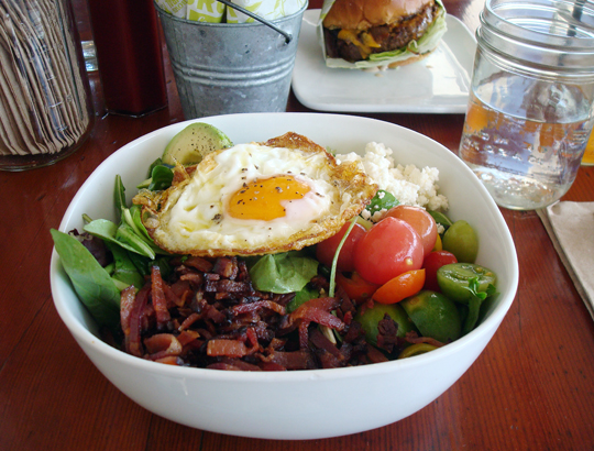 A beautiful Cobb salad.