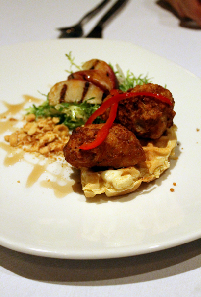 Sweetbreads and waffles? Yes, yes, yes!