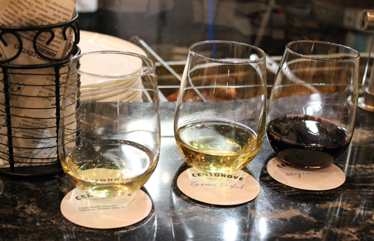 A custom wine flight.