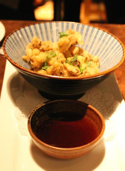 Mushroom tempura.