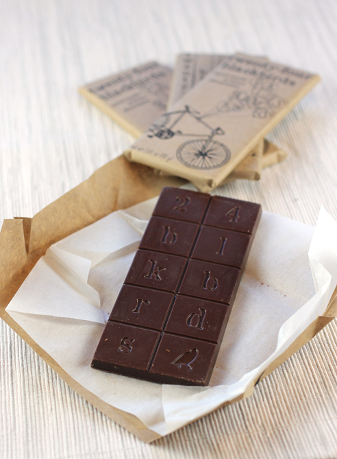 One of the Twenty-Four Blackbirds dark chocolate bars in February's Cococlectic delivery