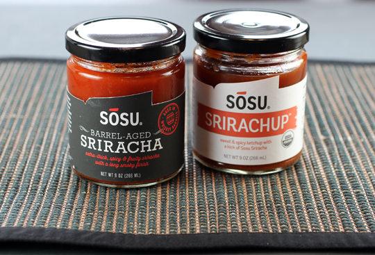Two products in the Sosu Sauces line.