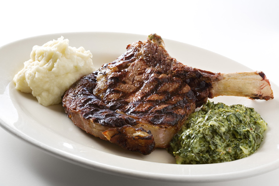 Prime bone-in rib chop with blue cheese butter at Birk's. (Photo courtesy of the restaurant)
