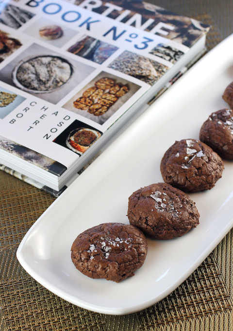 Dark chocolate, rye and salt combine to make these fudgey cookies.