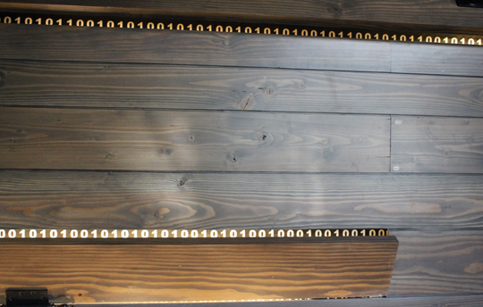 Only in Silicon Valley: binary code as art.