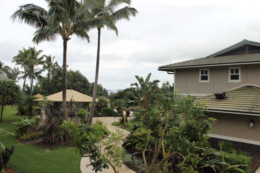 The grounds of the Kauai Westin Princeville Ocean Resort Villas.