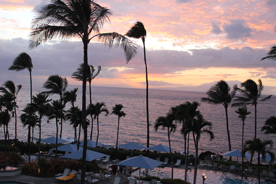 Dusk at Wailea Beach Marriott.