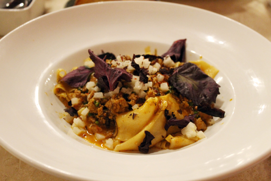 Bolognese with shiso, seaweed and jicama? Believe it.