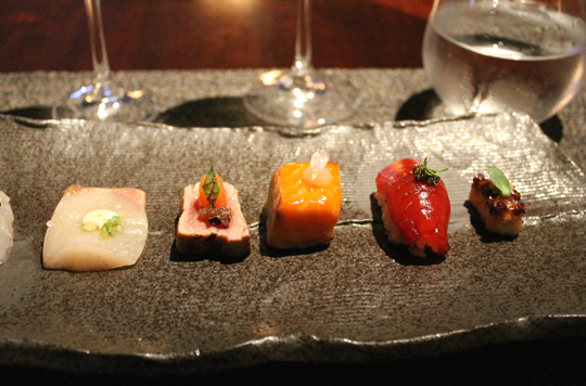 Jewel-like sushi.