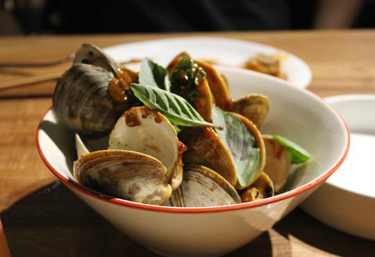 Big, bountiful clams.