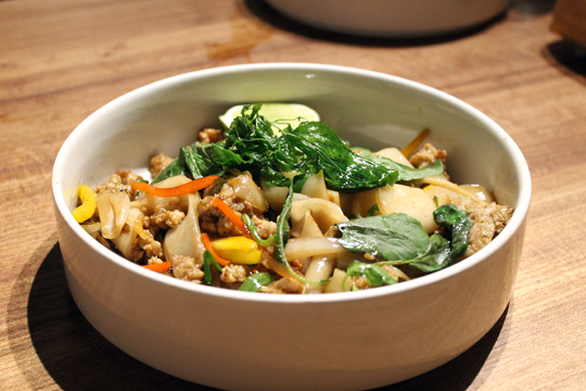 Stir-fried rice noodles.