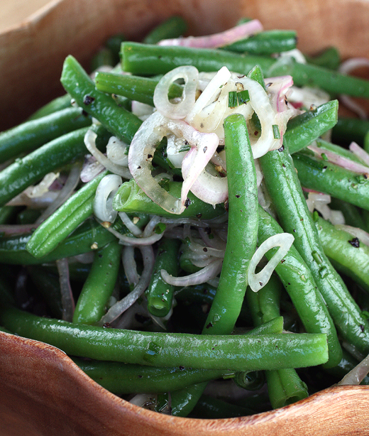 More Green Beans: Green Bean Salad with Pickled Shallots