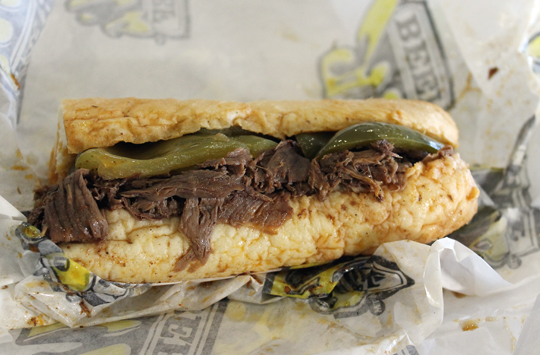 The dipped beef sandwich at Al's Beef. (Photo by Carolyn Jung)