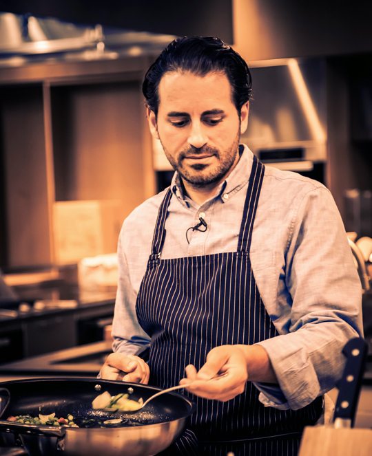 Chef Matt Accarrino of SPQR makes gnocchi in the Google kitchen. (Photo courtesy of Google)